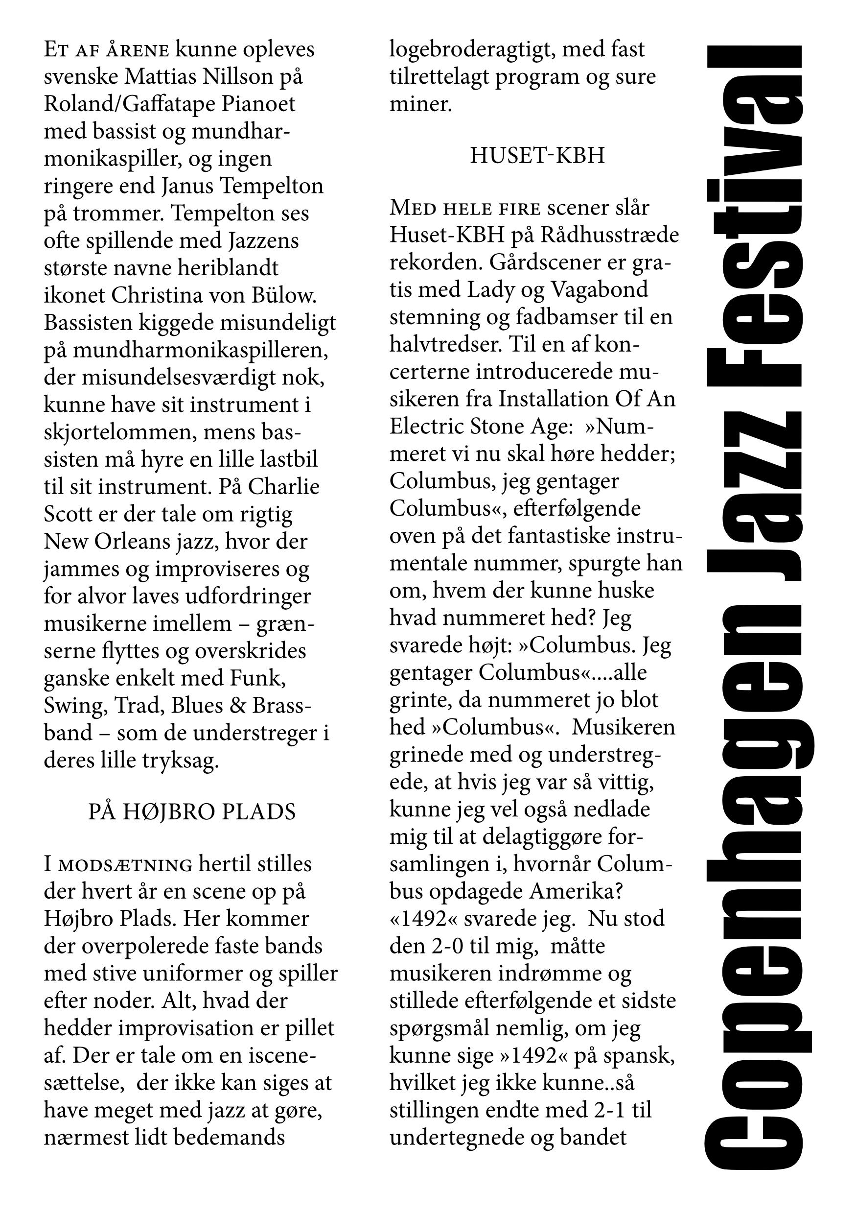 Copenhagen Jazz Festival 2021